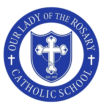 Our Lady of the Rosary Mobile Logo